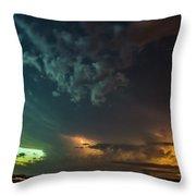 Epic Nebraska Lightning 005 Throw Pillow