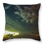 Epic Nebraska Lightning 006 Throw Pillow