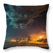 Epic Nebraska Lightning 008 Throw Pillow