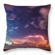 Epic Nebraska Lightning 009 Throw Pillow