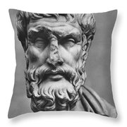 Epicurus (342?-270 B.c.) Throw Pillow