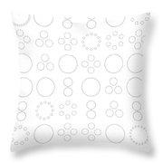 Epicycles Modulo 37 Throw Pillow