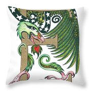 Epsilon Eagle In Green And Gold Throw Pillow