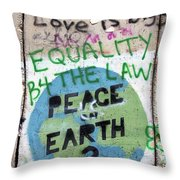 Equality Before The Law Throw Pillow