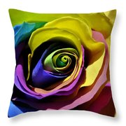 Equality Rose Throw Pillow