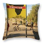 Equator In Kenya Throw Pillow