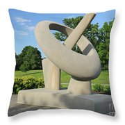 Equatorial Sundial Crown Hill Cemetery Indianapolis Throw Pillow