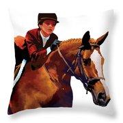 Equestrain Throw Pillow