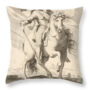 Equestrian Portrait Of Louis Xiii Of France Throw Pillow