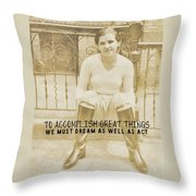 Equestrian Quote Throw Pillow