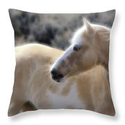 Equine Golden Glow Throw Pillow