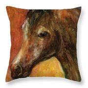 Equine Horse Painting  Throw Pillow