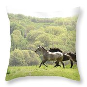 Equines For Freedom Throw Pillow