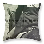Equitation Quote Throw Pillow