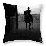 Equus Sapien I Throw Pillow