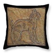 Eqyptian Cat Relief Throw Pillow