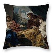 Erasistratus, Ancient Greek Physician Throw Pillow