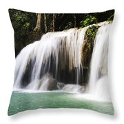 Erawan National Park Throw Pillow