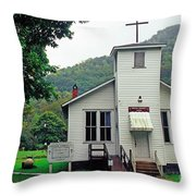 Erbacon Community Church Throw Pillow