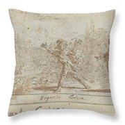 Ergasto And Corisca Throw Pillow