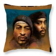 Eric B. And Rakim Throw Pillow by Dwayne Glapion