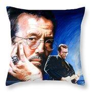 Eric Clapton Blues Lake Throw Pillow