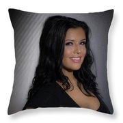Erica Smiles Throw Pillow