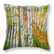 Erin's Birch Trees Throw Pillow