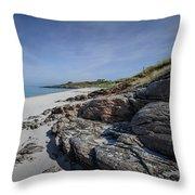 Eriskay Beach Throw Pillow