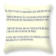 Ernesto Che Guevara Speaking 3 Throw Pillow