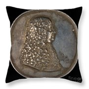 Ernst Bogislaus, Duke Of Croy And Arschott, Prince Of The Holy Roman Empire [obverse] Throw Pillow