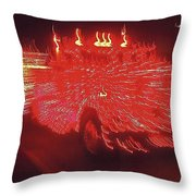 Ernst Haas Homage Fire Truck Electric Lights Xmas Parade Casa Grande Az 2001 Throw Pillow