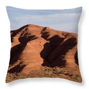 Eroded Hills In Sunset Light Throw Pillow