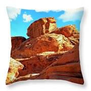 Eroded Red Sandstone Throw Pillow