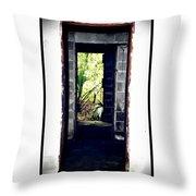 Eroding Door Leading To The Forgotten  Throw Pillow