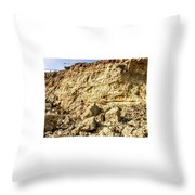 Eroding Graffiti Cliff 2 Throw Pillow