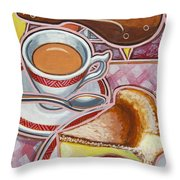 Eroica Britannia And Bakewell Pudding On Pink Throw Pillow