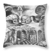 Eros Thanatos II Throw Pillow