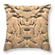 Golden Tidal Sands Throw Pillow