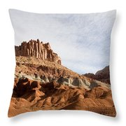 Erosion Shows The Layers Of Sediment Throw Pillow