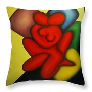 Erotic Embrace Throw Pillow