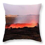 Erta Ale Volcano Throw Pillow