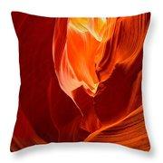 Erupting Flames Throw Pillow