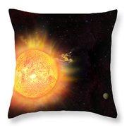 Eruption - Solar Storm Throw Pillow