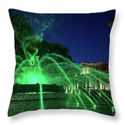 Eruption Of Green Waters, Sofia Throw Pillow