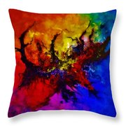 Eruptive Force Throw Pillow