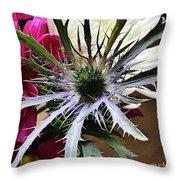 Eryngium Thistle Throw Pillow