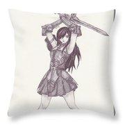 Erza - Fairy Tail Throw Pillow