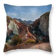 Grand Staircase Escalante Road Throw Pillow