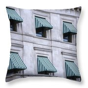 Escambia County Courthouse Windows Throw Pillow